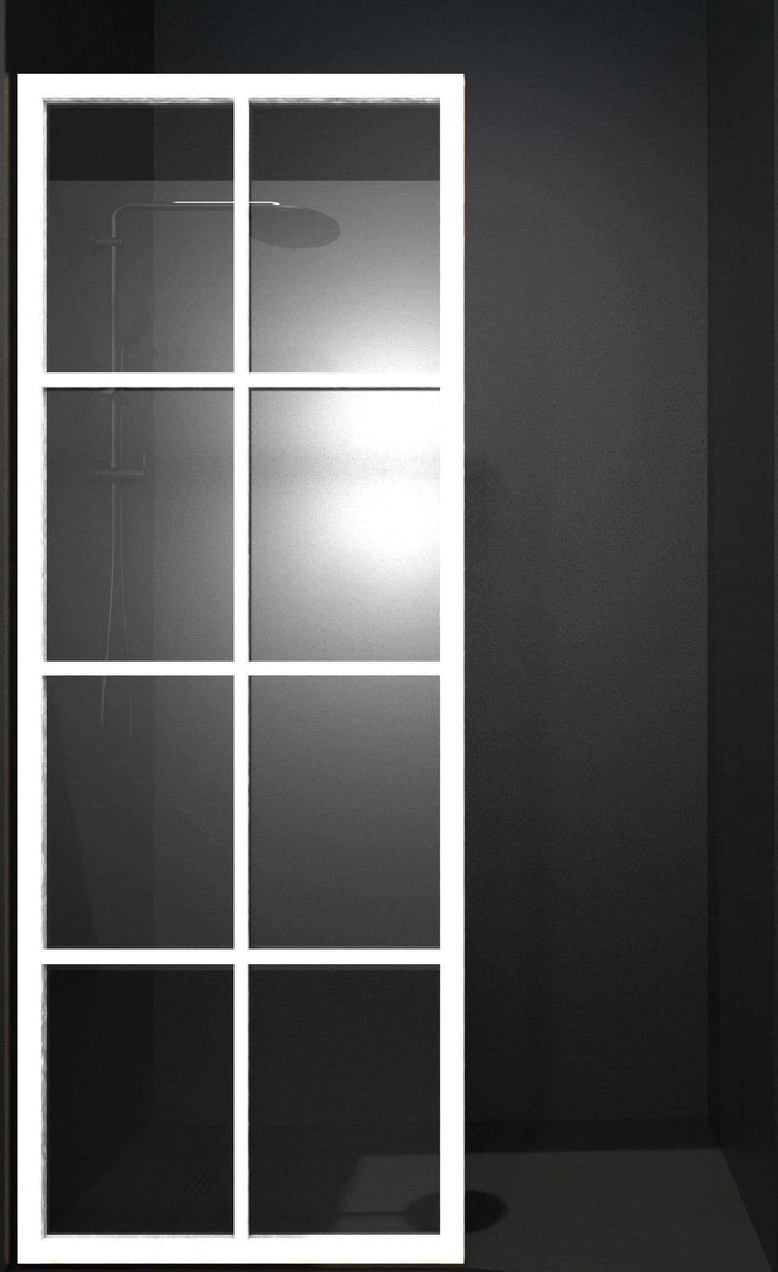 Gridscape GS1 Colorize Shower Screen in Matte White with Clear Glass