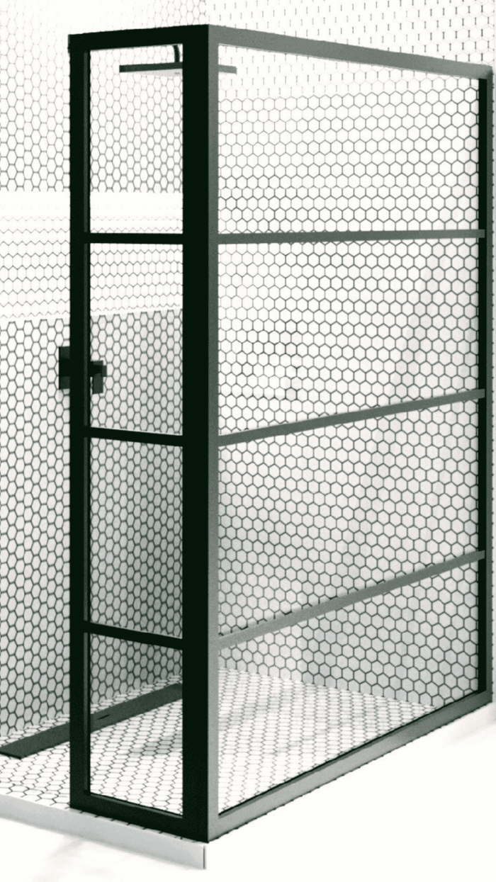 Gridscape GS2 Corner 2-Panel Shower Screen in Black