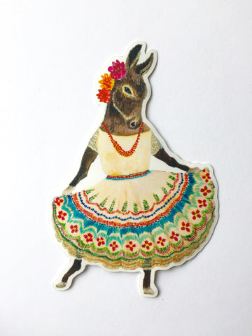 Vinyl Sticker // Dancing Donkey // Die Cut Donkey Sticker