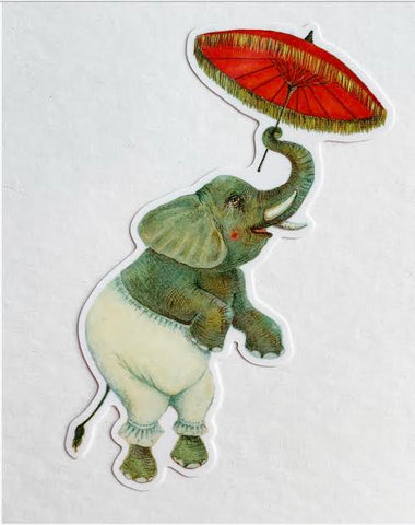 Vinyl Sticker // Dancing Elephant // Die Cut Elephant Sticker