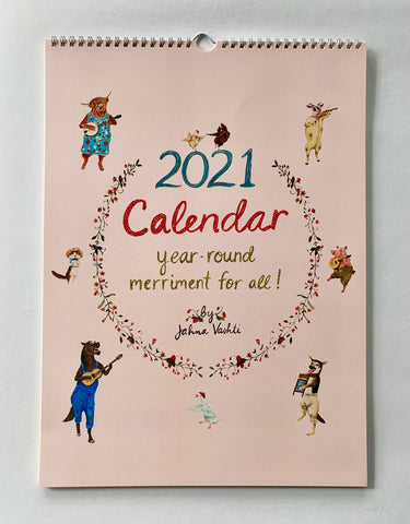 2021 Wall Calendar, Year Round Merriment For All!