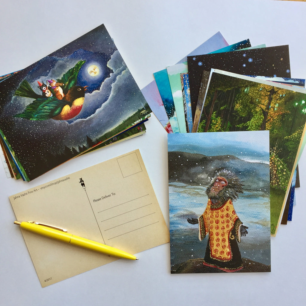 Postcard Collection, Set of 35