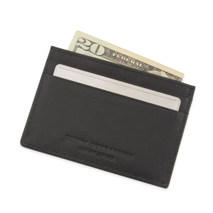 Leather Slim Card Case Wallet with Secret Message Card