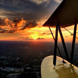 Romantic Sunset Biplane Flight over Atlanta