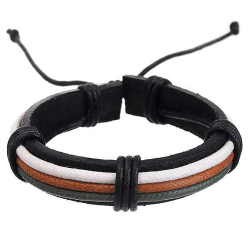 Mad Man Leather Bracelet