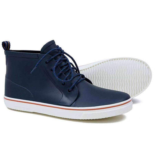 Men's High Top Rain Boots (Navy)