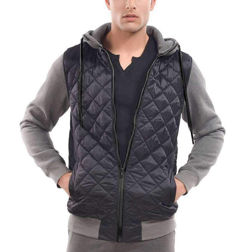 Men's Quilted Hoodie
