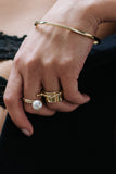 D-mond Ring Gold 14k and 18k, stackable rings.
