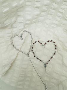 Wire Beaded Heart Cake Toppers We-met Wire Work