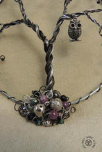 Wire Tree of Life on Steel Hoops with Charms of Your Choice We-met Wire Work