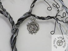 Two Tone Chakra Tree of Life with Dragon Charm
