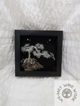 Silver Wire Bonsai in Shadow Box
