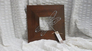 Wire Dragonflies on Wood Frames