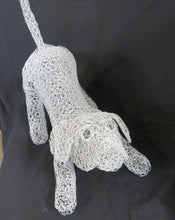 Chicken Wire Puppy Garden Art Sculpture