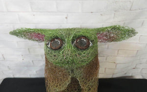 Chicken Wire- Grogu Inspired Garden Art Sculpture  We-met Wire Work