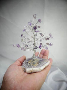 Silver Wire and Amethyst Bonsai  We-met Wire Work