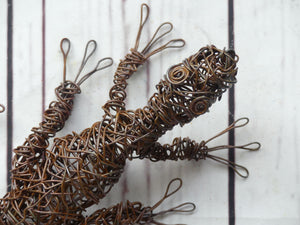 Rusty Critters - 3D Wire Gecko Sculpture
