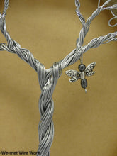 Wire Tree of Life on Steel Hoops with Charms of Your Choice