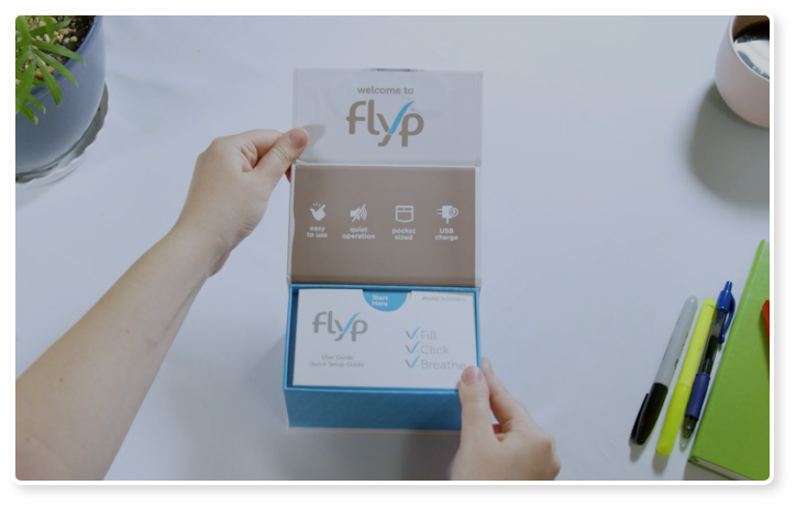unboxing video of the Flyp nebulizer