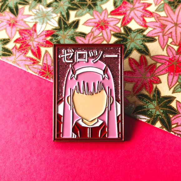 Zero Two Enamel Pin