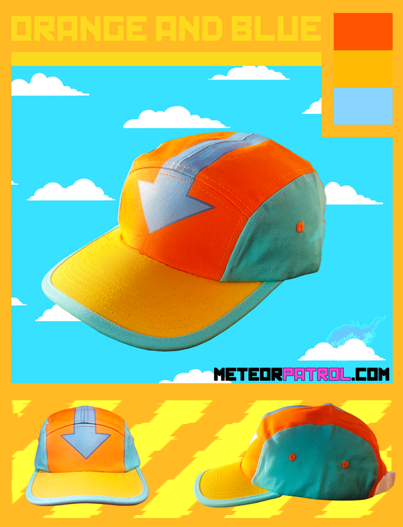 Orange and Blue Cap