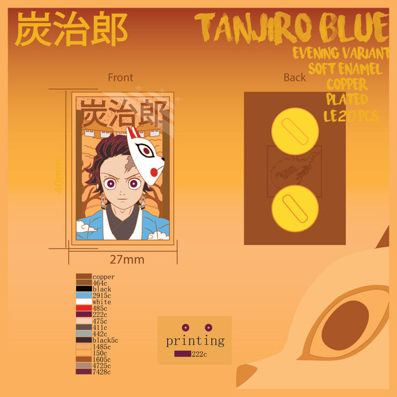 Tanjiro Blue Pin! [Evening Variant] [Preorder]