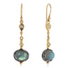 Rose-cut Labradorite Elixir earring drops