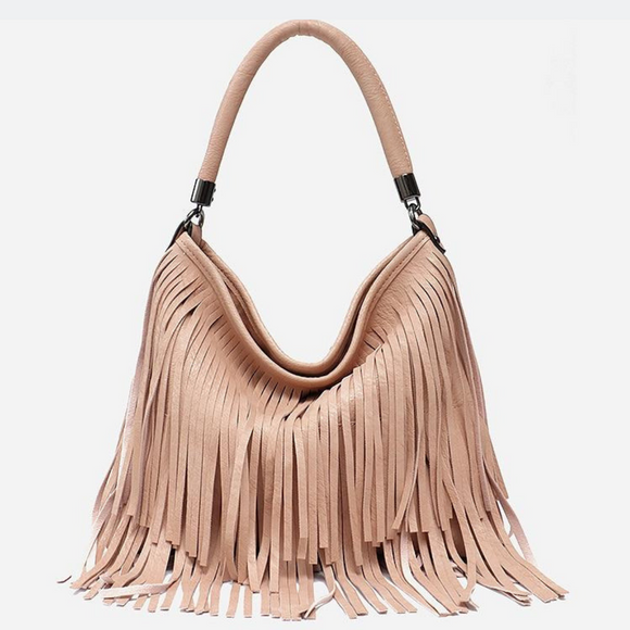 Boho Inspired Tassel Cross Body Handbag