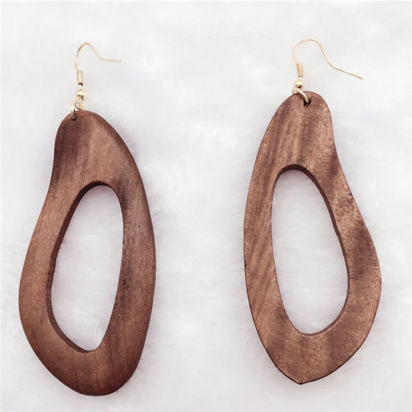 wood earings