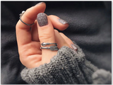 Trendy Stylish Thai Sterling Silver Cupid Arrow ring