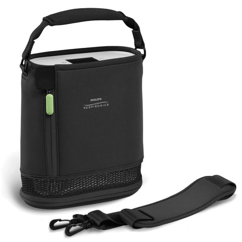 SimplyGo Mini Carry Bag & Strap (Brown and Black)