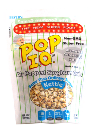 Kettle Pop IQ - Air-popped Sorghum that is NON-GMO
