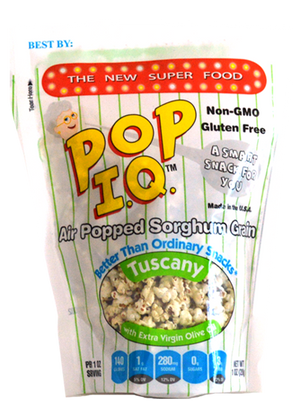 Tuscany Pop IQ - Air-popped Sorghum that is NON-GMO