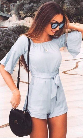 light blue, baby blue, outfit, summer 2019, spring 2019, trends