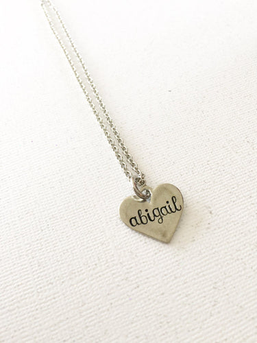 Little Girls Name Necklace