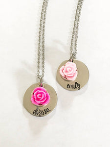 Girl's Name Stamped Necklace