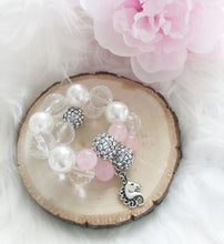 Little Girl Unicorn Rose Quartz Bracelet