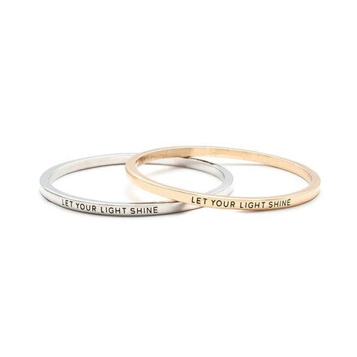 Let Your Light Shine Stamped Bangle