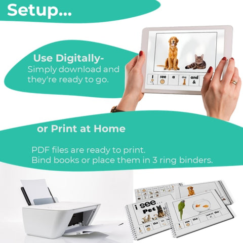 Emergent Readers Digital Printable Setup Instructions
