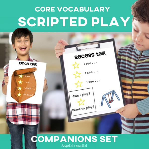 This set has been fantastic for my special education class! Now my low language and AAC users are joining in the play! #speech #aac #corevocabulary #specialed #specialneeds