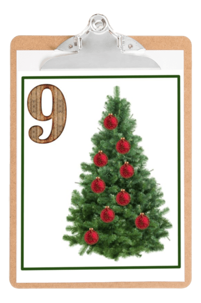 photo regarding Christmas Ornaments Printable named Counting: Xmas Ornaments 🎄 (Printable PDF)