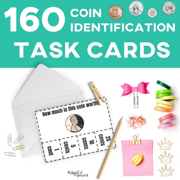 Task Cards: Coin Identification (Printable PDF