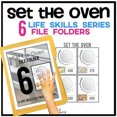 Set the Oven File Folder Set (Printable PDF)