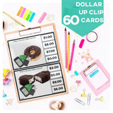 Next Dollar Up Clip Cards Independent Work Task Autism Special Education Vocational Skills
