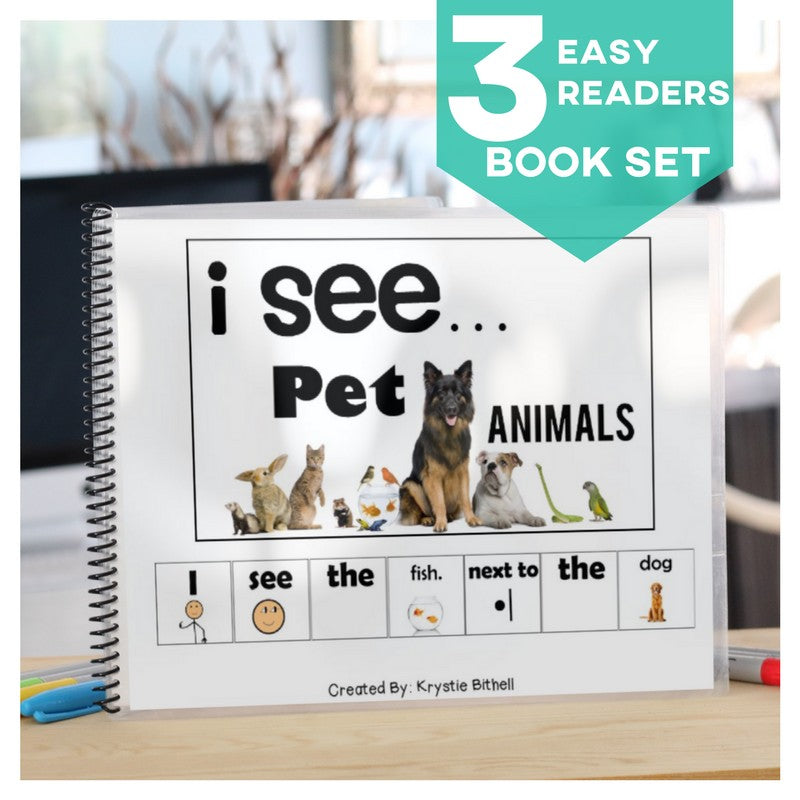 Easy Reader Emergent Readers Pet Animals Independent Work AdaptEd 4 Special Ed
