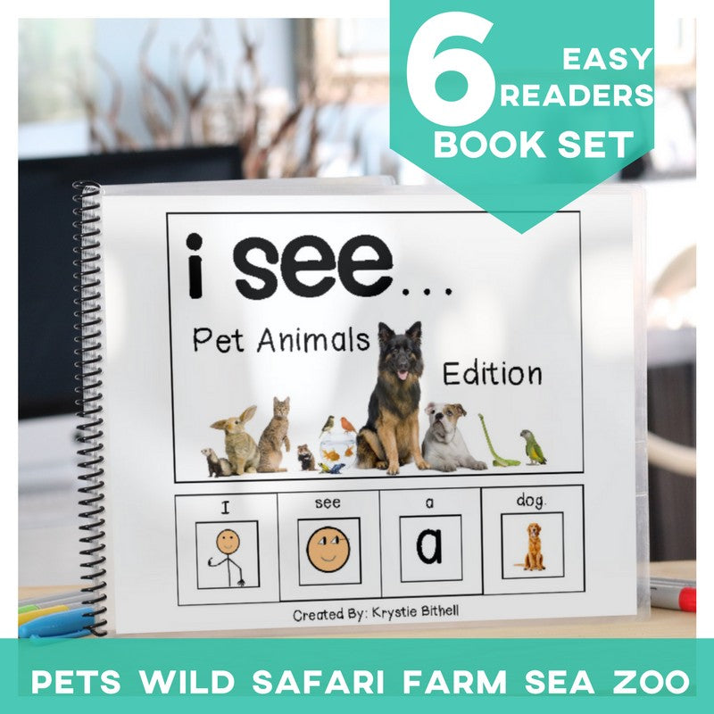 Emergent Readers: I see... (animals) Set of 6 (Printable PDF)