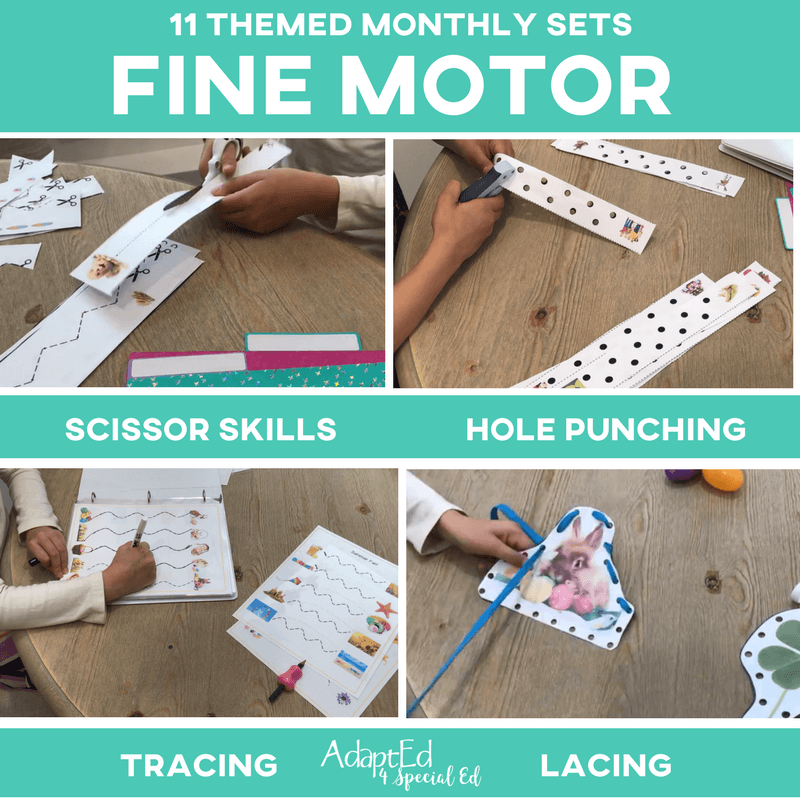 Fine Motor Skill Builder Monthly Themed BUNDLE: 11 Pack