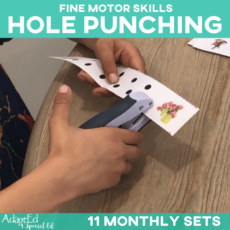 Hole Punching Monthly Themed Sets: 11 Pack (Printable PDF)
