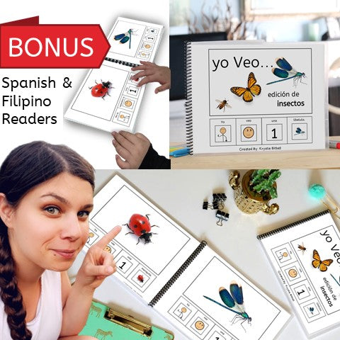 Emergent Readers: Bugs & Insects Spanish/ English/ Filipino (Printable PDF)