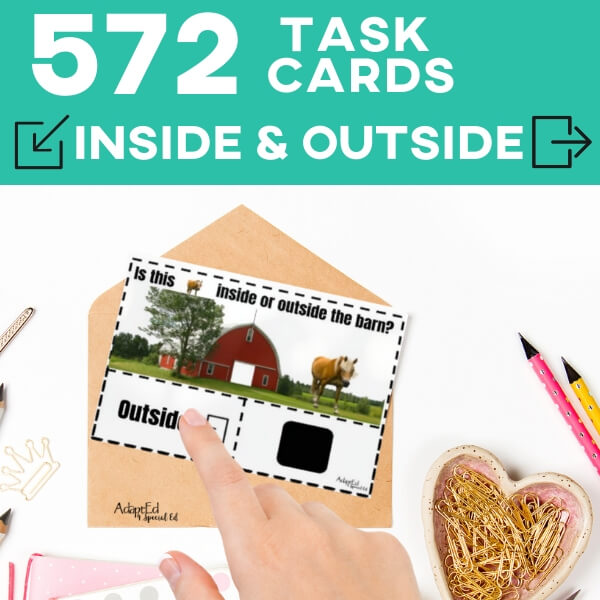 Task Cards: Position Words: Inside and Outside